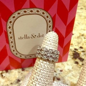Stella & Dot Stackable Deco Ring